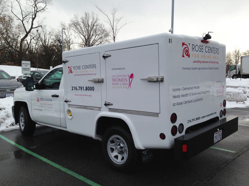Rose Centers for Aging Well Home-Delivered Meals truck