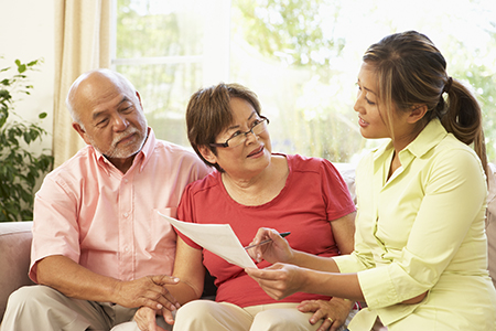 Best Practice Caregiving- A couple with a caregiving advisor